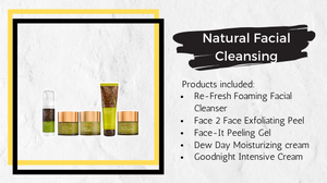 Natural Facial Cleansing Treatment products