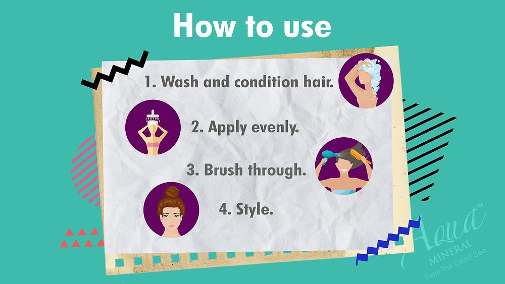 Hair serum instructions