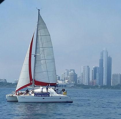 Catamaran sailing chicago