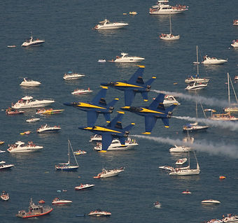 Chicago Air and Water Show from your own boat