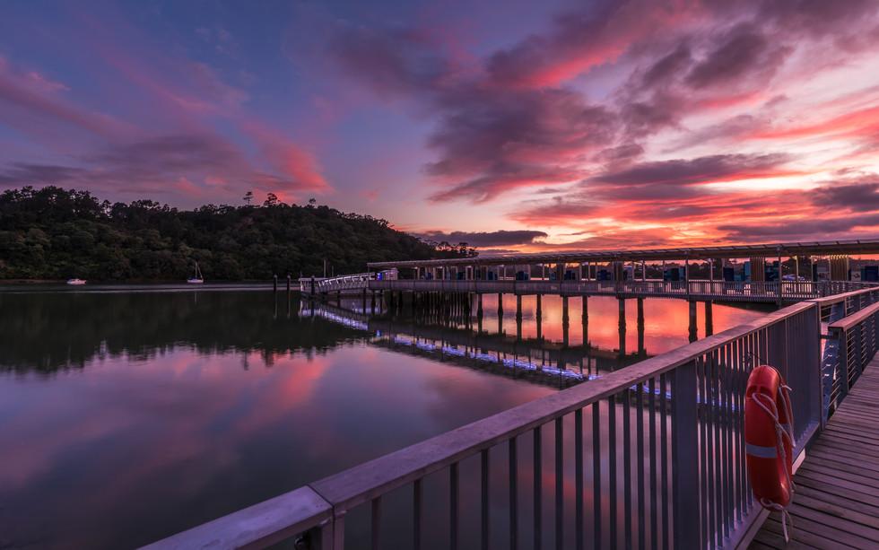 Sunrise from Hobsonville Wharf