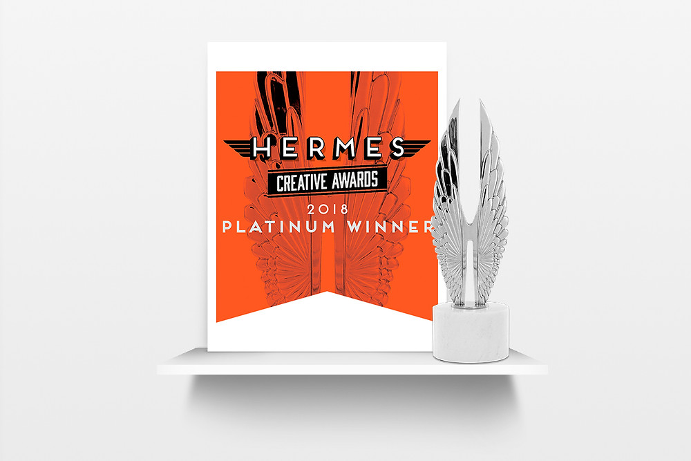 Hermes Creative Award and logo on white background