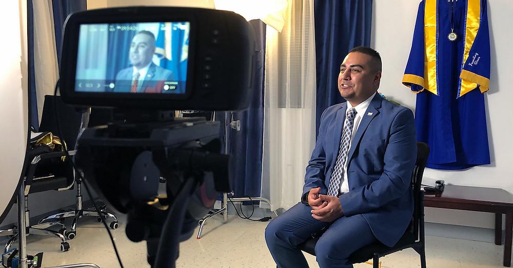 IDEA McAllen College Prep Principal Joán Álvarez sits for an interview