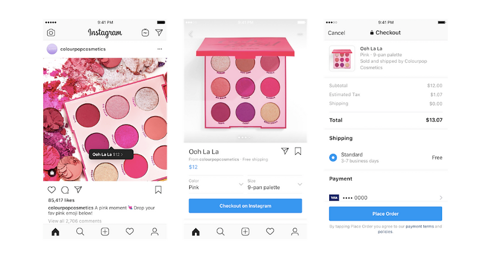Screen-by-screen look at Instagram's new Checkout feature