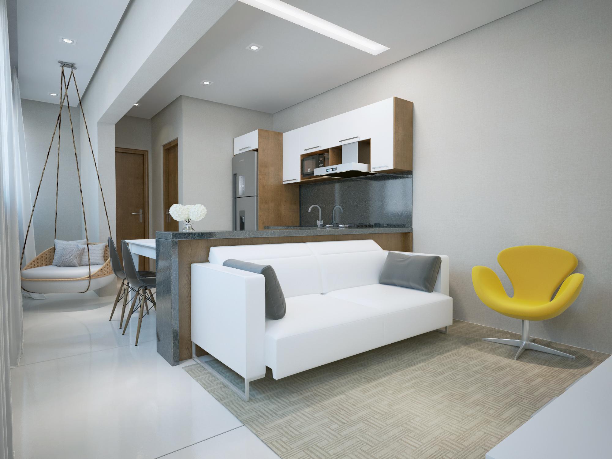 Living 1 Dormitório