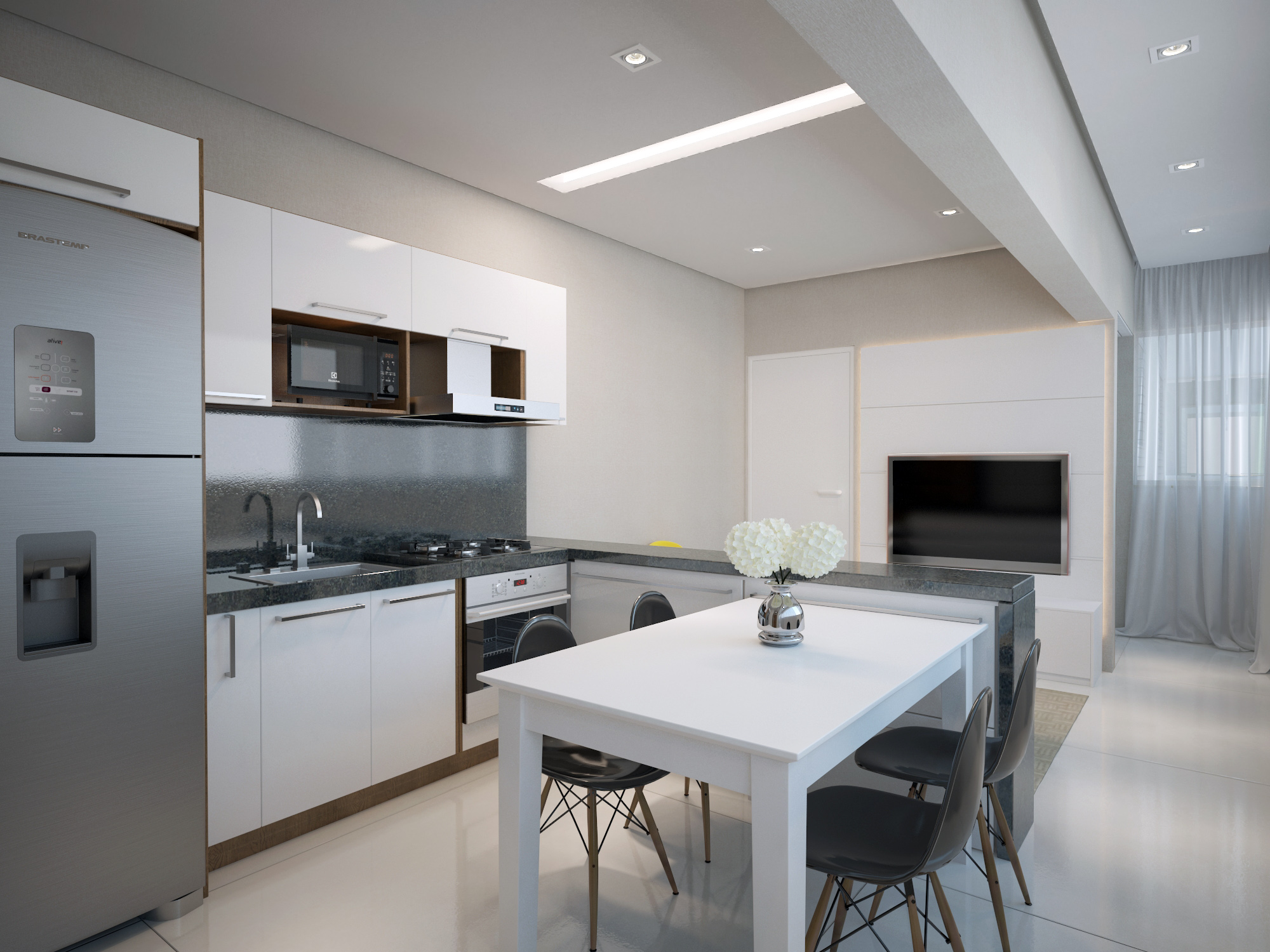 Cozinha 1 Dormitório