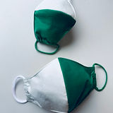 premium handmade football cotton facemasks by sarah-Jane at sarahjaneembroidery