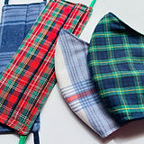 premium handmade tartan cotton facemasks by sarah-Jane at sarahjaneembroidery