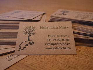 Visitenkarten sind gedruckt