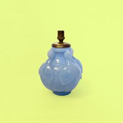 lampe CLA art deco pressé moulé verre sabino lalique opaline oiseaux birds