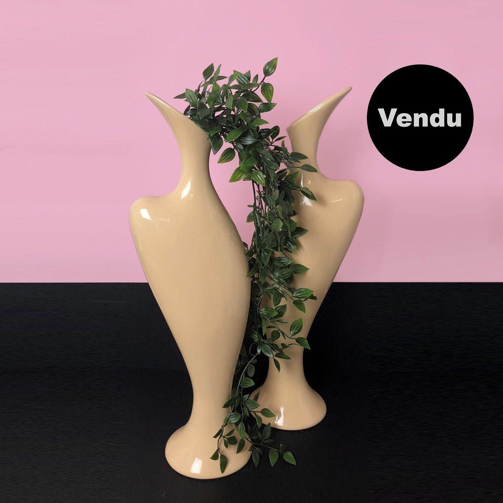 Vases jumeaux années 80
