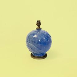 lampe boule art deco ceramique bleu bronze
