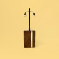 willy rizzo mario sabot burl wood thuya lamp