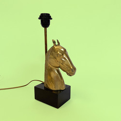 lampe cheval tete laiton horse head lamp Charles