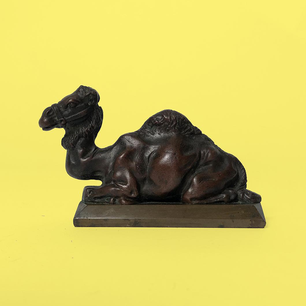 bronze orientaliste dromadaire chameau années 50