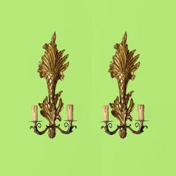 Appliques Sconces Louis XVI XV bois doré