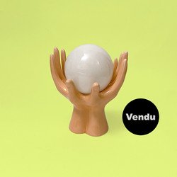 lampe main ceramique ceramic hands lamp.