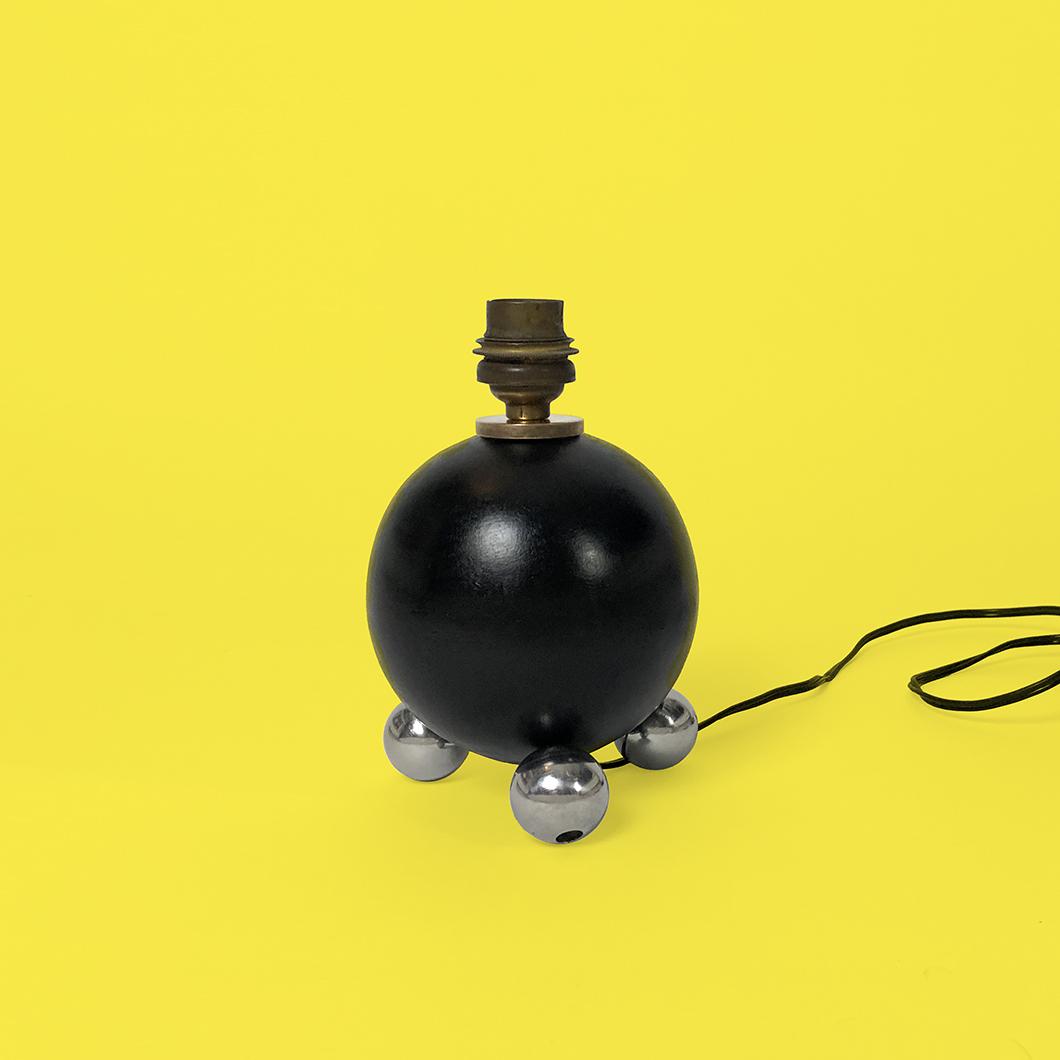 lampe boule jacques adnet