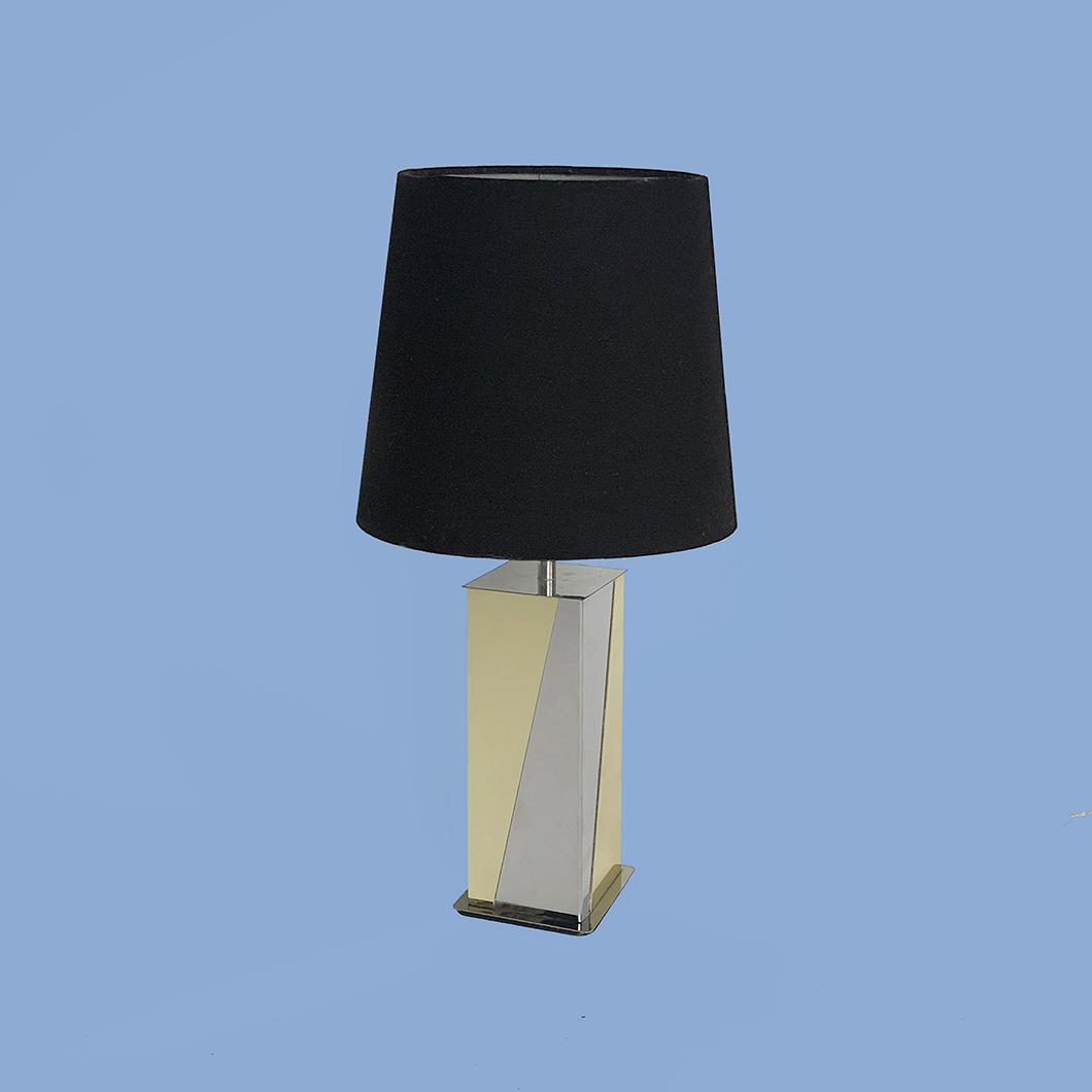 Lampe Roméo Rega Années 70 laiton chrome