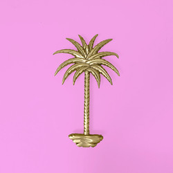 palmtree sconce brass lamp
