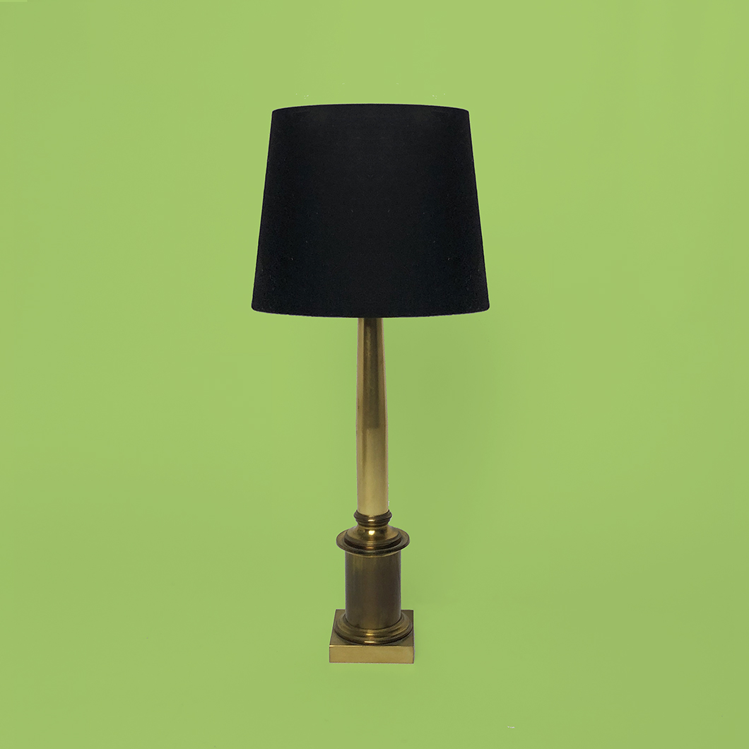 Lampe bronze colonne dorique maison Charles