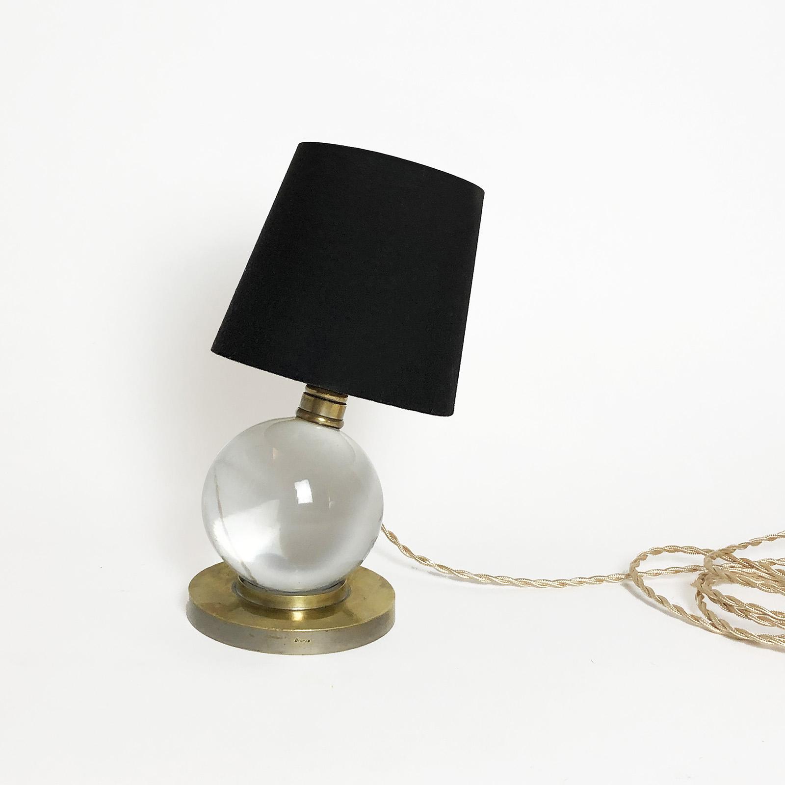 lampe boule cristal baccarat jacques adnet