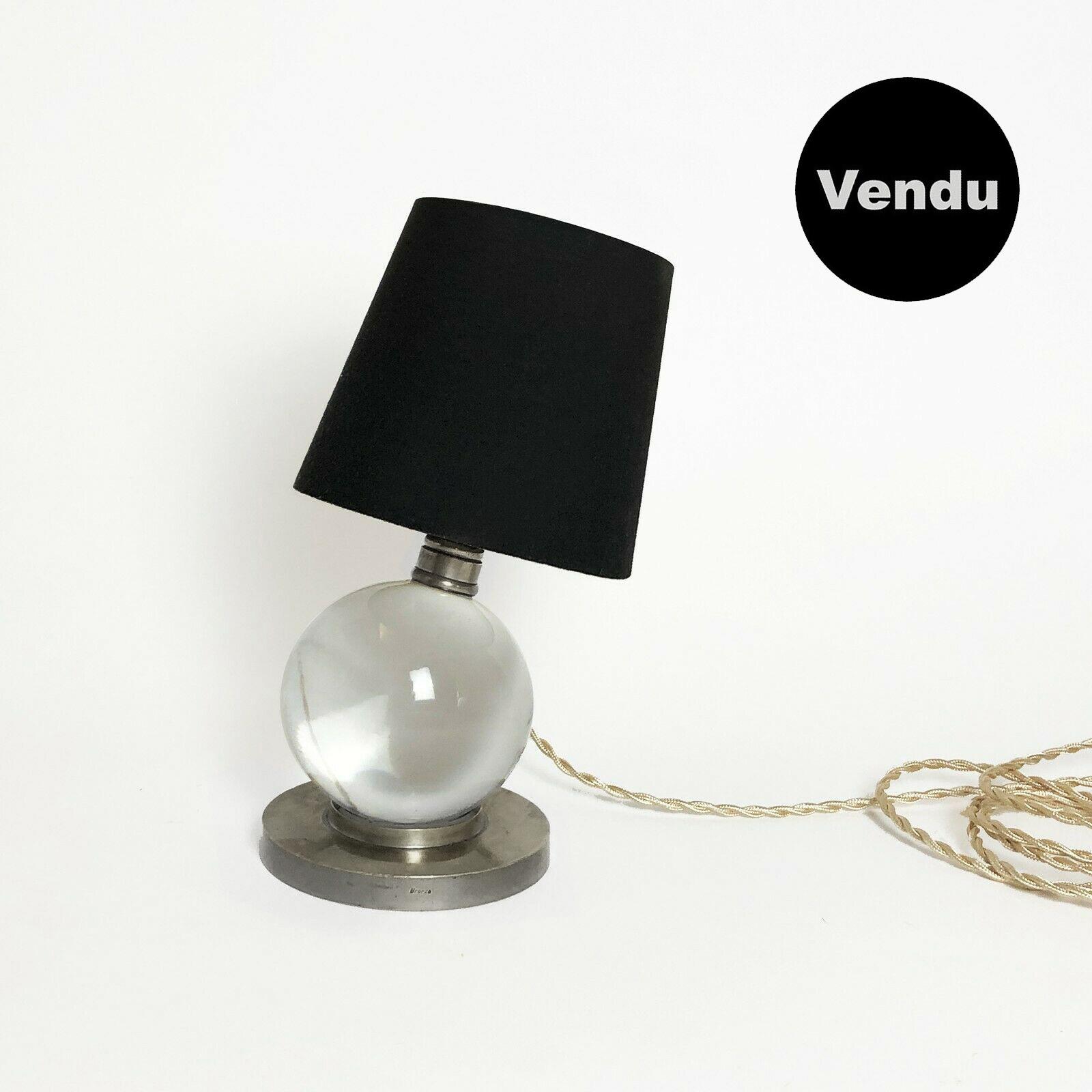 lampe boule cristal baccarat jacques adn
