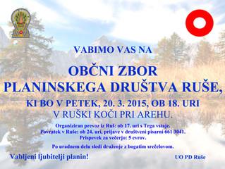 Občni zbor PD Ruše