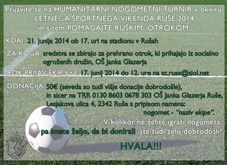 Humanitarni nogometni turnir za otroke OŠ Janka Glazerja