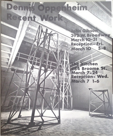 "1979: ""Recent Work"" Signed Poster by Dennis Oppenheim"