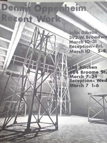 "1979: ""Recent Work"" Signed Poster by Dennis Oppenheim"