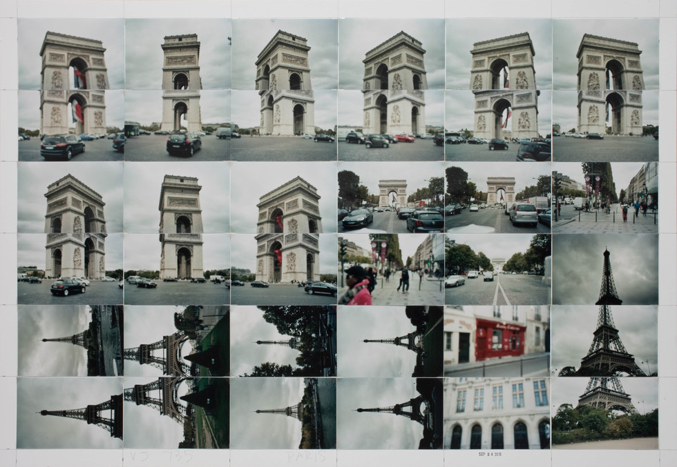 Paris, around the Arch, Eiffel, Analog Collector and Sorbonne, 2015