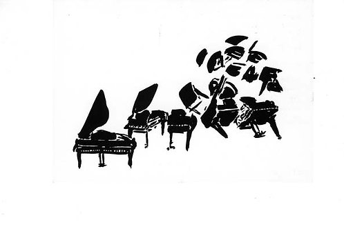 """1998: """"Fragmentation: Concerto for 4 Pianos""""Print by Arman"""