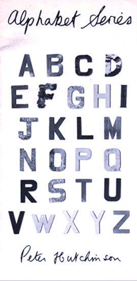 PETER HUTCHINSON Signed Catalogue: Alphabet Series 1974