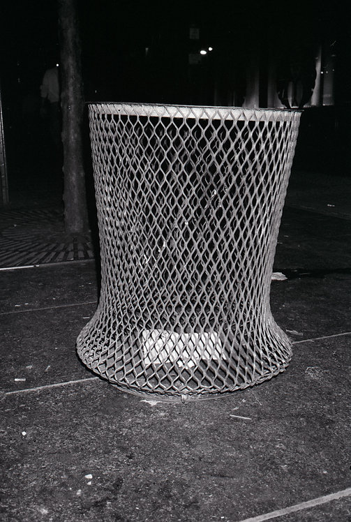 Trash Receptacle NYC 1986