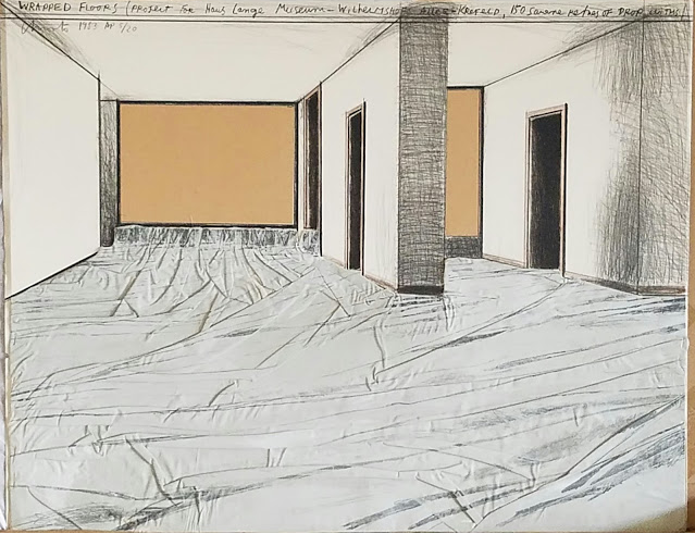 "1983: ""Wrapped Floors"" Artists Proof Collage by Christo"