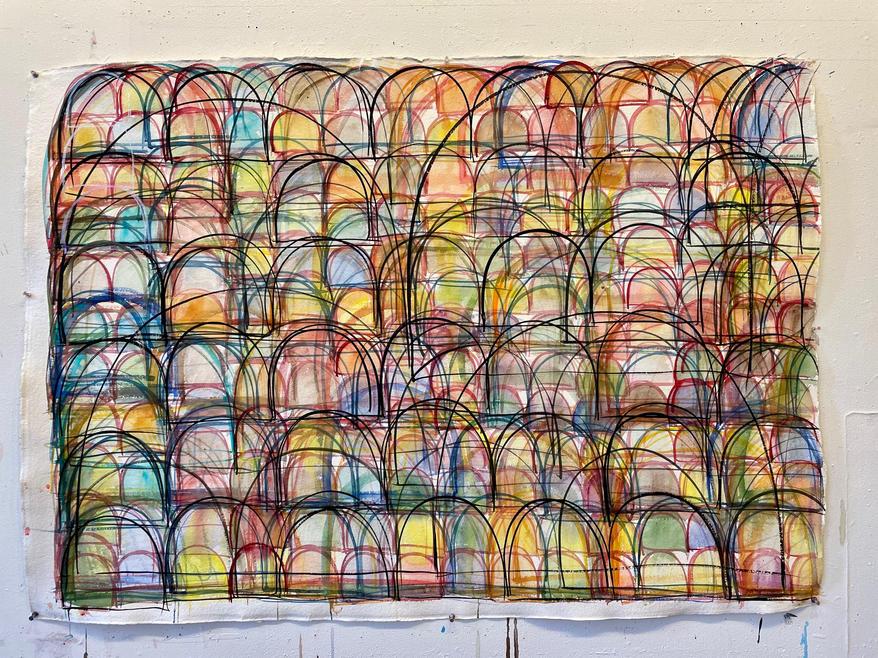 SVETLANA RABEY: Untitled Drawing Large, 2021