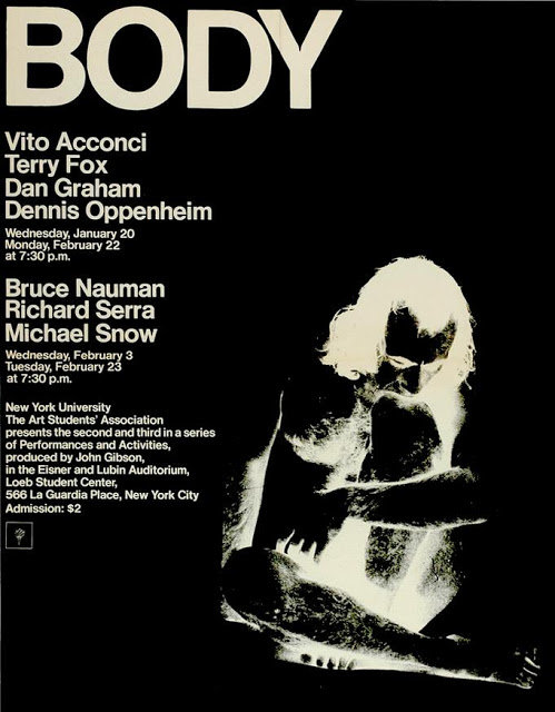 1971: Conceptual Artists Event at NYU Bobst Center Poster Signed by Vito Acconci