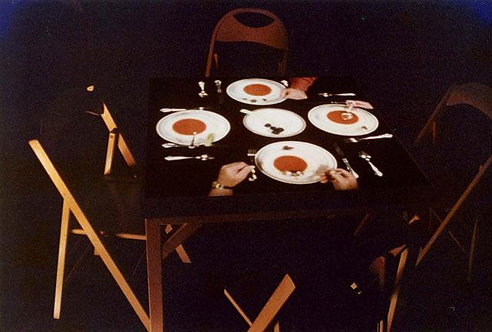 "1975: ""Cardplayers"" and ""Silent Dinner"" by Bill Lundberg"