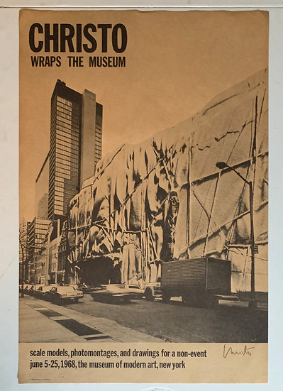 "1968: ""Christo Wraps The Museum"" Signed Poster by Christo"