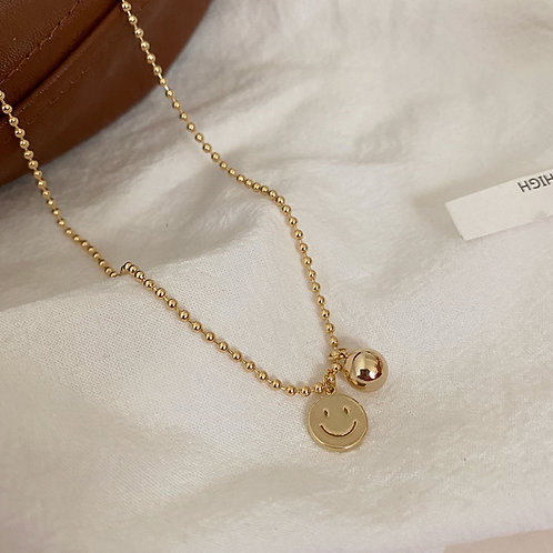 Smiley Gold Necklace