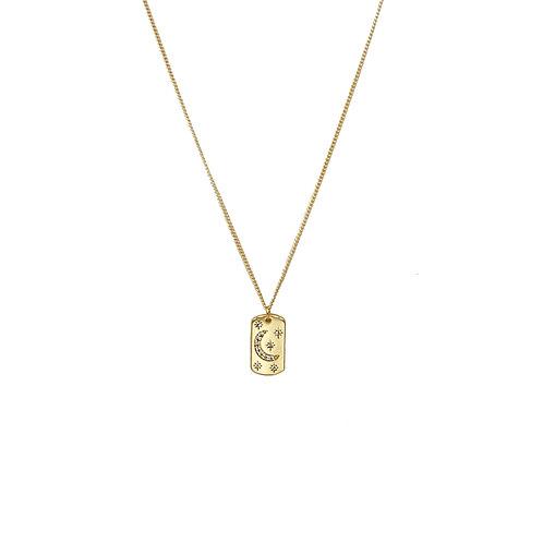 Eclipse Gold Pendant Necklace