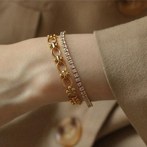 Ines Crystal Gold Bracelet