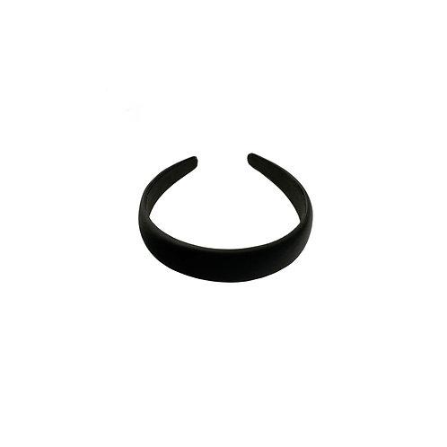 Midnight Black Satin-silk Headband