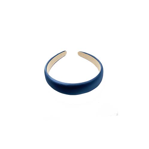 Oxford Blue Satin-silk Headband