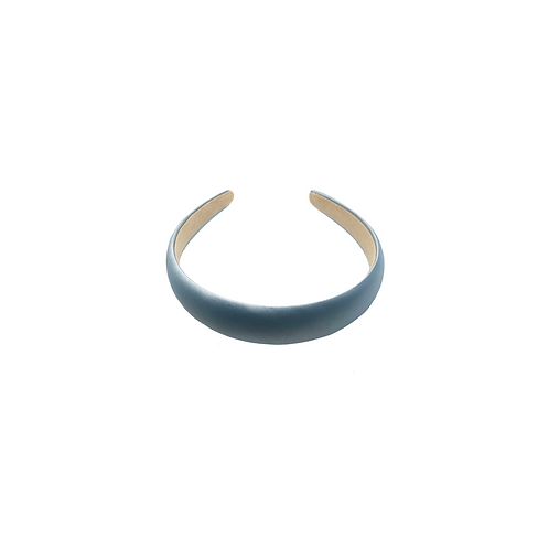Baby Blue Satin-silk Headband