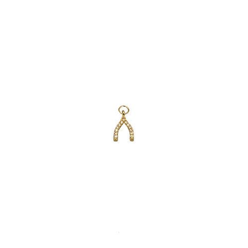 Mini Wishbone Charm
