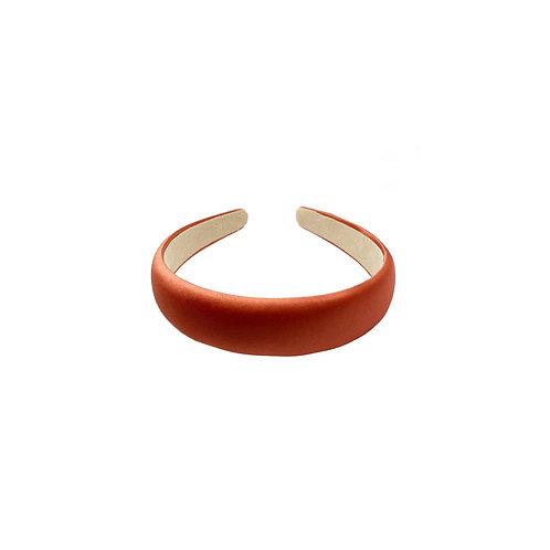 Coral Satin-silk Headband