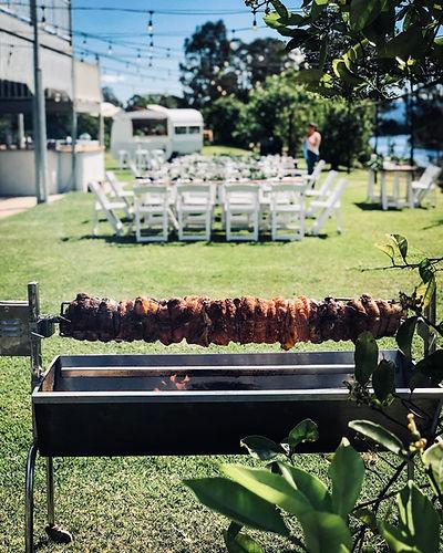 Wedding spit roast catering noosa and sunshine coast