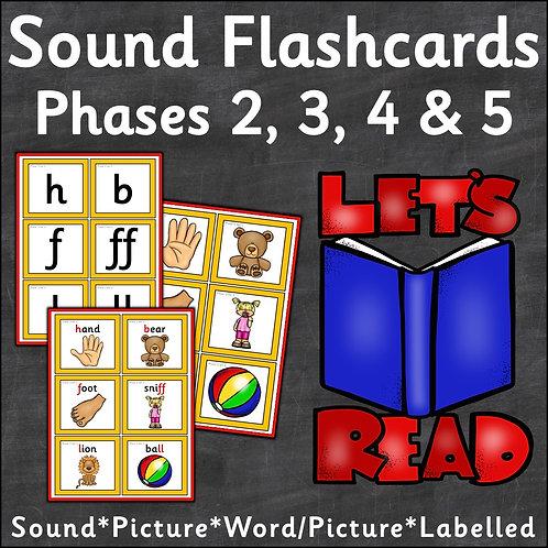 Phonics Sound Flashcards Phases 2-5